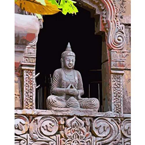HavanaYZ Buddha-Malen-nach-Zahlen-Set mit Pinsel und Acryl-Malset