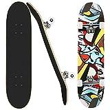 Skateboard Erwachsenes Komplettboard für Anfänger, Skateboard...