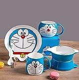 OUDE Latte Ceramica Coppa Doraemon Vetro Mattina Tazza da tè Ciotola Succo Piatto dell'Acqua Tazza di caffè Divertente Cucina Drinkware Ragazze Regalo da tavola