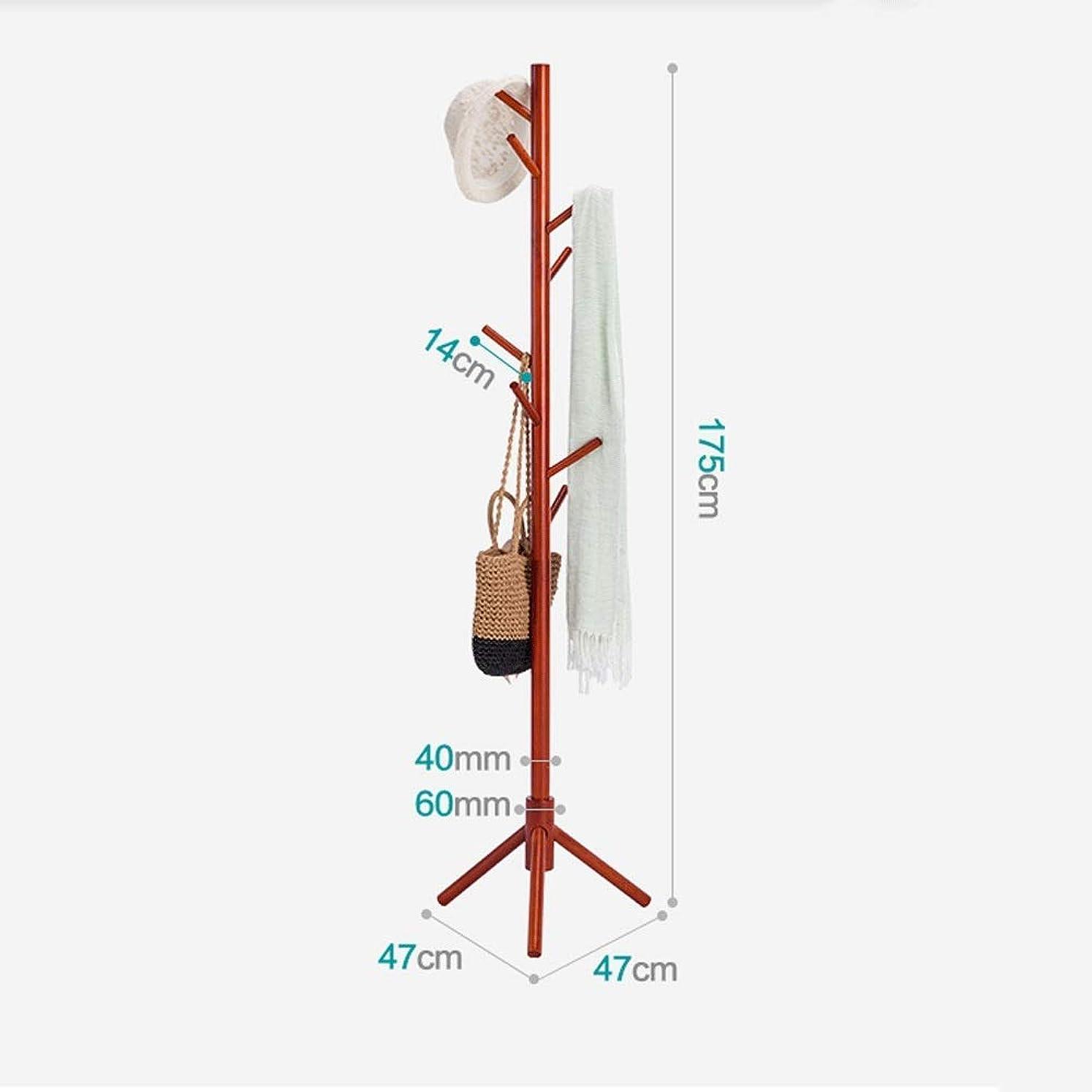 ドラムずるい打ち負かすモダンなフロアスタンドワードローブラック、ホームデコレーション木製コートラックフロアリビングルームベッドルームポーチオフィスオーバー