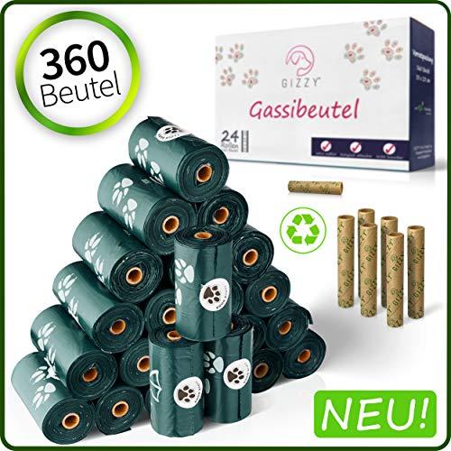 GIZZY Hundekotbeutel - Biodegradable - Extra Reißfeste & Besonders Leicht Trennbare Kotbeutel für Hunde - Dog Poo Bags - Hundebeutel - Bag