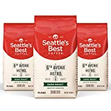 Seattle's Best Coffee 6th Avenue Bistro Dark Roast Ground Coffee, 12 Ounce (Pack of 3)