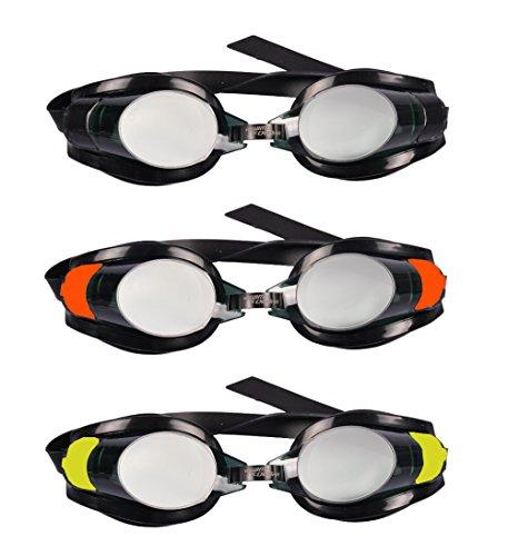 keine Angabe Bestway Schwimmbrille Hydro Swim Taucherbrille verstellbar getönt UV-Schutz, Farbe:schwarz