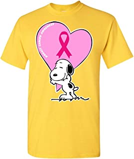 Support Breast Cancer Awareness Costume Snoopy T-Shirt