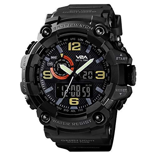 V2A Cammando Midnight Black Analog Digital Sport Watches for Men's and Boys