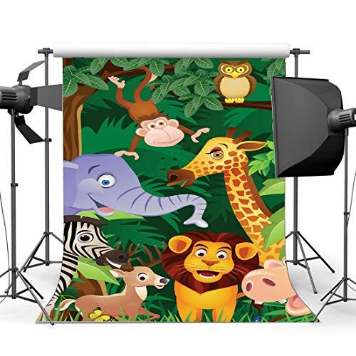 EdCott Vinilo 6X9FT Parque zoológico Telón Fondo
