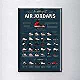 YTYTOO Premium Poster,Poster Sneaker Michael Jordan Schuhe