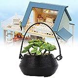 YUHT Dollhouse D & Eacute; Cor, 1:12 Miniatura Bonsai Garden Plant Accesorio Flor Doll House Balcón Decoración Juguete, Juguete DIY Regalo para Niños Niñas