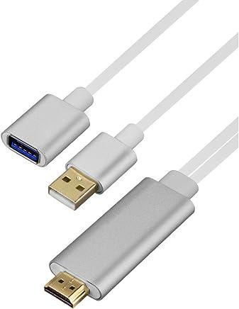 手机连接投影机转换线苹果安卓mhl电视高清线视频线转换有线同屏器usb转HDMI (黑色)