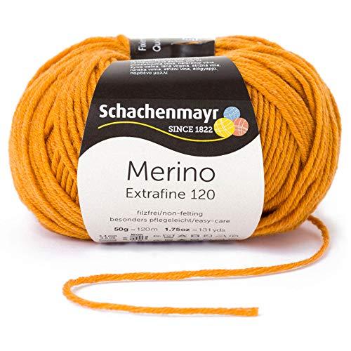 Schachenmayr Handstrickgarne Merino Extrafine 120, 50g Gold Meliert