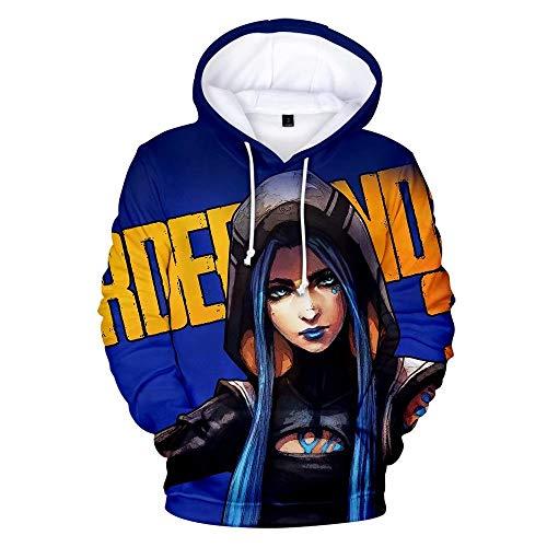 Not applicable Borderlands 3 Maya Die Sirene Splatter Hyperion 3D Print Hoodie Jacke Spiel Cosplay Kostüme Hoodies Sweatshirts
