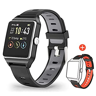 Smart Watch GPS, Fitness Tracker HR Touch Screen Activity Tracker, Waterproof 5ATM Fitness Watch with Heart Rate Sleep Monitor Pedometer Calorie Counter Stopwatch Running Watch for Men Women