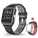 MOTOK Smartwatch GPS Orologio Fitness Uomo Donna Impermeabile IP68 Smart Watch Cardiofrequenzimetro da Polso Contapassi Smartband Activity Tracker Bambini Cronometro per Android iOS