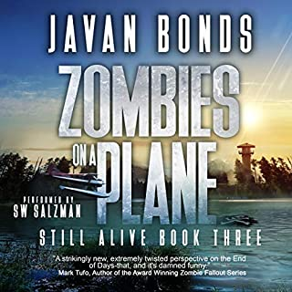 Zombies on a Plane audiobook cover art