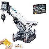 MAJOZ0 Technik Kran Liebherr 11200 Bausteine, 2.4Ghz RC Mobiler Kran,4000 Teile Konstruktionsspielzeug Kompatibel mit Lego Technic