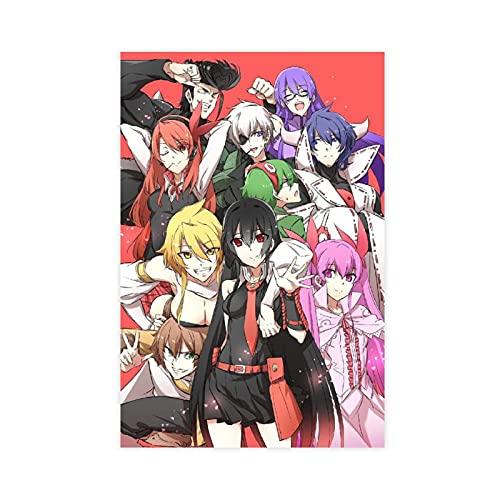 Anime Akame Ga Kill 13 poster su tela di canapa decorazione da parete per soggiorno camera da letto decorazione Unframe: 30 x 45 cm