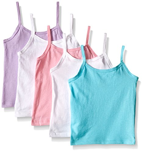 Hanes Girls' Cami Assorted 5-Pack,Assorted,2/3