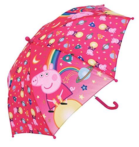 Peppa Pig–Peppa–4764–Regenschirm–Kinder Mädchen–Öffnung Manuelle