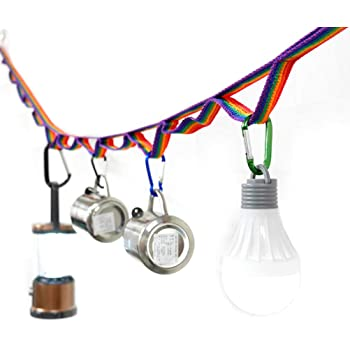 Outdoor Camping Hanging Lanyard Cord Storage Rope Clothesline Tent Tools UK