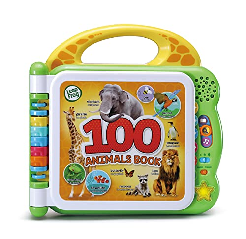 LeapFrog 100 Animals Book, Baby Book with Sounds and Colours for Sensory...