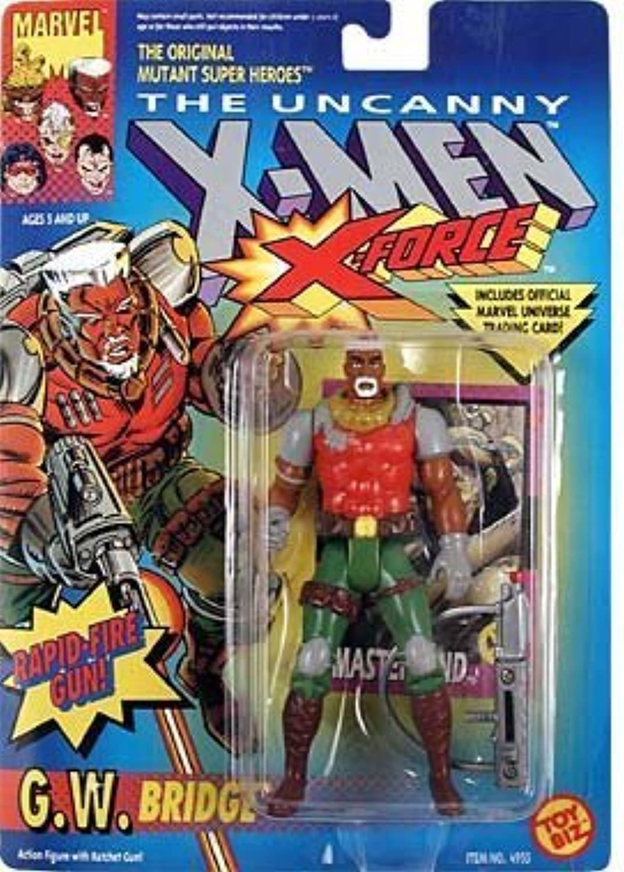 G.W. Bridge Action Figure  XMen  XForce Series  w  Rapid Fire Ratchet Gun  Toy Biz  Marvel  W  Trading Card  Limited Edition  Collectible by X Men