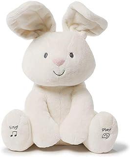 "Peek-a-boo Rabbit Singing Animated Plush Stuffed Animal Toy, Cream, 12"""