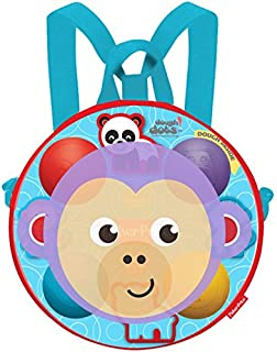 Dough Dots! On The Go Silhouette Backpack Playset (Monkey) - Creative Modeling and Play Dough Set with Fun Animal Cutters - Non-Toxic and Child-Safe - Great Kids Travel Toys - 1.9oz. Dots (4-Pack)