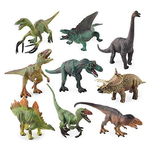 Hging Toy Dinosaur Realistic Dinosaur Figure Toys 6'Juego de Dinosaurios plásticos de Gran tamaño para niños y educación para niños pequeños, Incluyendo T-Rex, Stegosaurus, Spinosaurus, Brachiosaurus