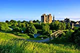 County Meath, Ireland - Historic Trim Castle with Foot Bridge on a Blue Sky Day (12x18 Wall Art Poster, Digital Print Decoration), Image size 17 5/8 x 11 5/8 inches, white borders along all edges of at least 1/4 inch Guaranteed color accuracy, durabl...