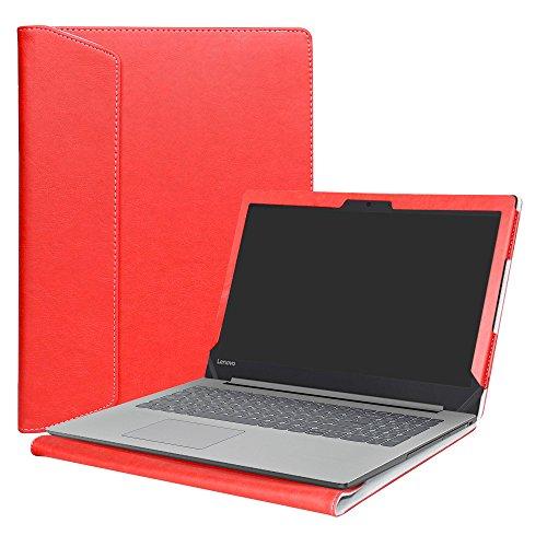 """Alapmk PU Custodia Protettiva per 15.6"""" Lenovo Ideapad 320 15 320-15ikb 320-15iap 320-15abr/Ideapad 330 15 330-15IKB 330-15AST/Ideapad 520 15 520-15ikb Laptop(Not Fit Ideapad 320s/330s),Rosso"""