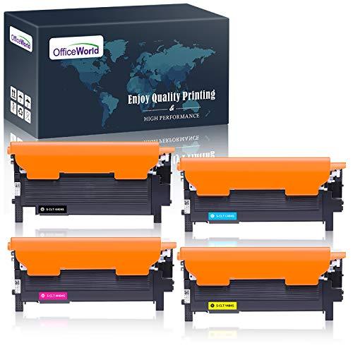 OfficeWorld CLT-P404C CLT-404S Toner Sostituzione per Samsung CLT-K404S CLT-C404S CLT-M404S CLT-Y404S Toner per Samsung Xpress SL-C480FW SL-C430W SL-C430 SL-C480 SL-C480FN SL-C480W (Multipack da 4)