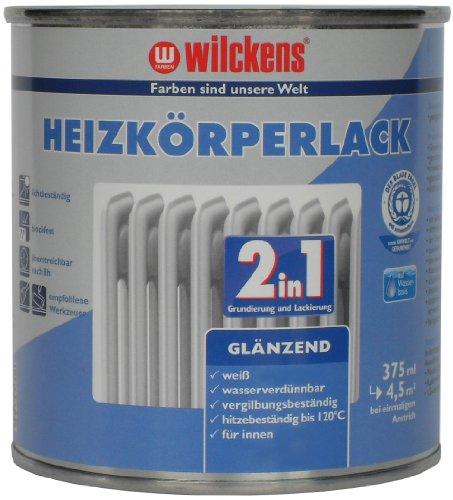 Wilckens 2-in-1 Heizkörperlack glänzend, 375 ml, weiß 10493200030