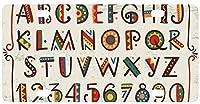 車の女性の男性のためのヒッピーアフリカ民族の明るいアルファベット文字金属ナンバープレートタグサイン装飾