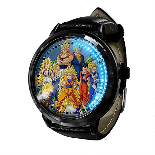 Anime Dragon Ball Z Goku Series Reloj LED Pantalla táctil binaria Impermeable Reloj de luz Digital Reloj de Pulsera Unisex Cosplay Regalo Relojes de Pulsera para-A024