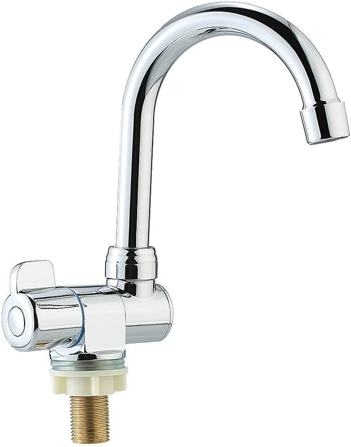 De-cdeal Deck/Wall Mounted Rotating RV Faucet Kitchen Faucet for