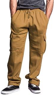 G-Style USA Men's Solid Fleece Cargo Pants