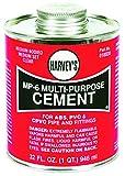 William H Harvey 018030-12 Multi-Purpose Solvent Cement, 32 oz, Milky Clear