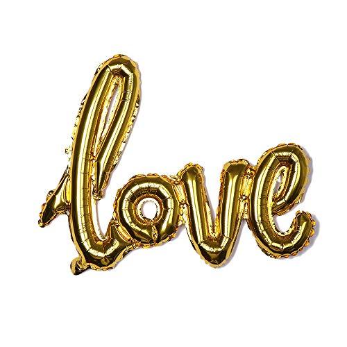Lemon-Land Nieuwe Bruiloft Decor Feestartikelen Romantische Helium Ballon Liefde Letter Aluminium Folie Opblaasbare Speelgoed Goud