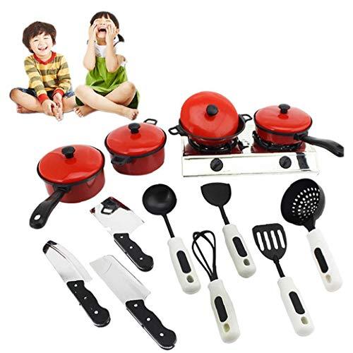 Kid mercancías de la cocina Utensilio para cocinar juguete educativo del juguete Set de juego el juego de simulación necesidades de utensilios de cocina de juguete Set de juego para los niños diarios