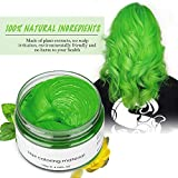 Jakuva Hair Coloring Dye Wax Styling Cream Mud, Natural Hairstyle Cream Wash out easily, Temporary Hair Dye Wax for Party, Cosplay & Halloween, Nightclub, 4.23 oz (Green)