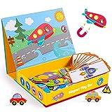 Rolimate Juguetes de Madera Rompecabezas magnéticos, Juegos de Mesa de Juguete de Aprendizaje Educativo Montessori, cumpleaños para niños de 3 4 5 6 años