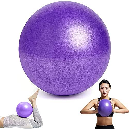 Pelota de Yoga,Pelota Pilates Pequeña 25 cm,Pelota Fitness,Pelota de Pilates,Pelota de Gimnasia,Adecuado para Ejercicio,Condición Física,La Fisioterapia y la Mejora de la Balanza (Púrpura)
