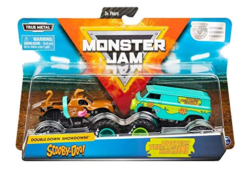 Monster Jam, Official Scooby Doo Vs. Mysterty Machine Die-Cast Monster Trucks, 1: 64 Scale, 2 Pack