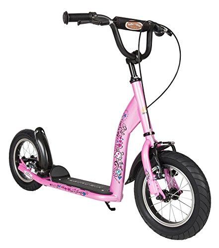 BIKESTAR Roller Kinderroller Tretroller Kickscooter mit Luftreifen für Mädchen ab 6-7 Jahre | 12 Zoll Sport Kinder Scooter | Pink | Risikofrei Testen