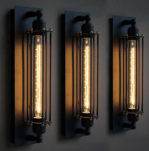 Vintage Industriel Mur lampe En Fer Forgé Vintage Flûte Applique Creative Lampe Murale Lampe Balcon Sans ampoule