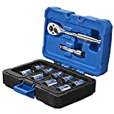Kobalt 11-Piece Metric 3/8-in Drive 6-Point Socket Set with Case