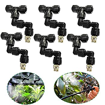 EONBON Misting System Stainless Steel Adjustable Misting Nozzles for Pets,Reptiles,Ecological Garden Animals