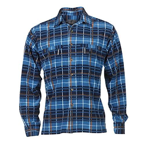 Wolf Camper Highland Fleece-Hemd Männer (blau, XL)