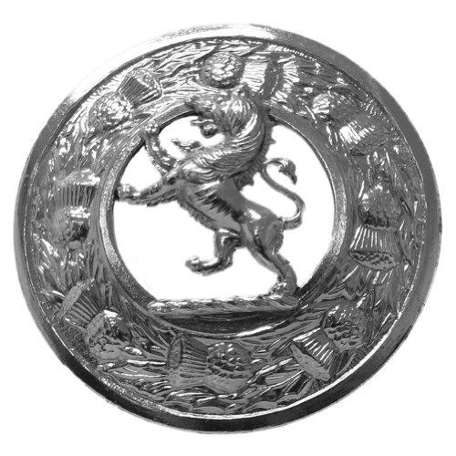 Glen Esk - Herren Brosche für Fly Plaids - Hergestellt in UK - Antiker Löwe