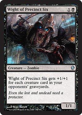 Magic The Gathering - Wight of Precinct Six (100/356) - Commander 2013